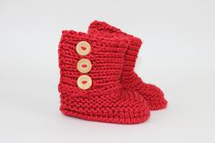 Ravelry: Baby Chunky Unisex Booties pattern by Christine Grant