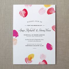 Brides: 25 Romantic Wedding Invitations Featuring Valentine's Day Inspired Details | Wedding Ideas