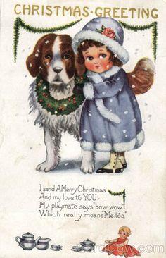 1920 christmas post card