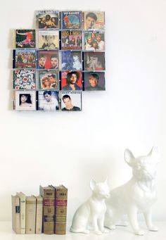 Awesome Set Your Records With Muroko Wall Art: Recycle Your Old Cd Cases  #cd #cdcases #digitalart #frame #homedecore #musiccollection #photo #photocollage #pictureframe #recycled #wallart #walldecor #wallart Even though CD cases are hardly used anymore, we can still benefit from its physical qualities: flat, clear and strong. Use Muroko wall to create your personal artwork from your CD jewel cases.