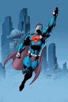 Superman by Jim Lee Héros Dc Comics, Superman Dc Comics, Batman And Superman, Superman Stuff, Superman Comic Books, Superman Family, Jim Lee Superman, Superman Man Of Steel, Superman Wonder Woman