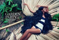 The Arise Magazine 'Garden Party' Photoshoot Features Bold Prints trendhunter.com