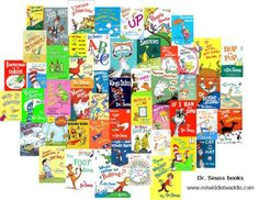 Complete list of Dr. Seuss books! Check some out for Read Across America Day, March 2nd.