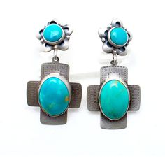 Eternal Life Native American Earrings ($98) ❤ liked on Polyvore featuring jewelry, earrings, turquoise, navajo jewelry, navajo earrings, handcrafted earrings, handcrafted jewelry and native american jewellery