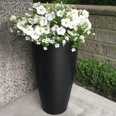 8880-B-Modesto 32in Tall Black-LS (5) Plastic Planter Boxes, Tall Planters, Backyard Lighting, Material Design, Wall Design, Contemporary Design, Elegant, Outdoor Spaces, Fiber
