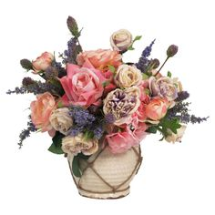 Faux Mixed Floral Arrangement