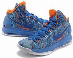 sports shoes b8820 e4362 Nike Zoom KD V 5 Christmas Graphic Royal BlueWhiteOrange Womens Shoes