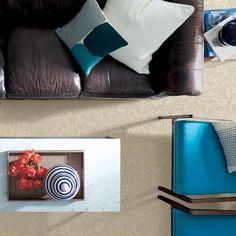LifeProof Swirling Vines - Color Bashful Beige Pattern 12 ft. Carpet-HDE5946101 - The Home Depot