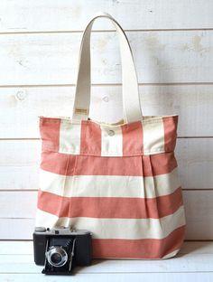 stripey bag  ikabags - etsy