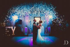 What a shot! Confetti cannons at Debbie and Darran's wedding.   Great work @jonnydraper this is awesome!