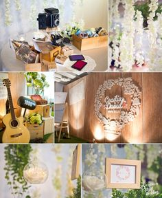 Lovely country style wedding decor
