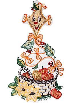 Fensterbild Plauener Stickerei® DRACHEN Obstkorb farbig HERBST 16x33 + Saugnapf in Möbel & Wohnen, Rollos, Gardinen & Vorhänge, Gardinen & Vorhänge | eBay!