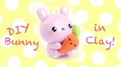 Tutorial on how to make a little bunny in clay, holding a carrot ^__^ ▽~Tips and ideas~▽ -Try out any color you'd like on the bunny! -In stead of a carrot, y...