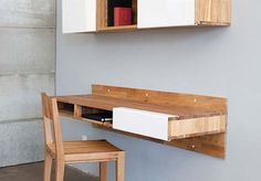 off the wall desk--- not bad idea.. maybe can combined desk and dinner table