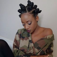 """naturalhairqueens: """" Those bantu knots are nice! her style is so cute! """""""