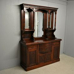 Solid Mahogany Sideboard Mirror Chiffonier Dresser Repro Antq Delivery Available