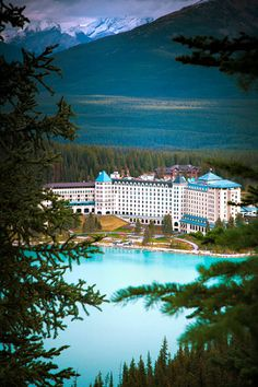 Fairmont Chateau, Lake Louise, Canada. this place was beautiful. unreal.