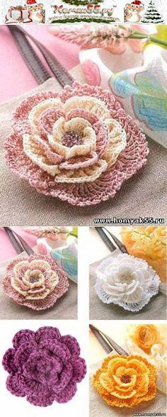 Posts sobre el tema «Вязаные цветы и листья Crochet Puff Flower, Crochet Flower Patterns, Crochet Mandala, Crochet Motif, Crochet Designs, Crochet Flowers, Filet Crochet, Thread Crochet, Irish Crochet