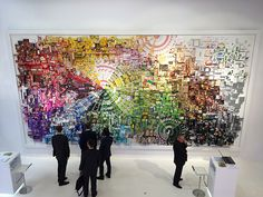 Giant mural made of 1700 color-organized product packages