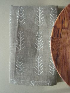 white twigs linen napkins by juliepeach