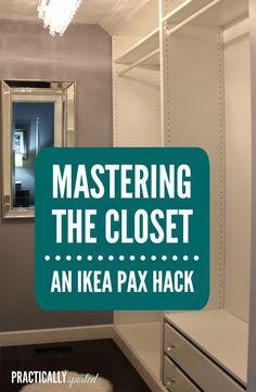 Mastering The Closet: An IKEA Pax Hack. DIY Built Ins - practicallyspoiled.com