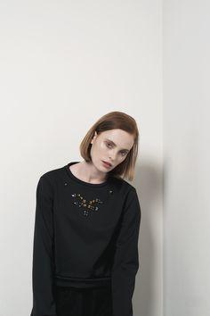 Aroma30 neoprene and swarovski sweatshirt, Photo Manuela Iodice, Styling Cristina Landi