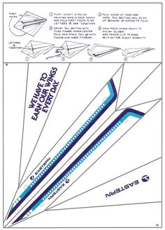 This is cool ... make your very own Eastern Airlines airplane ... paper airplane.