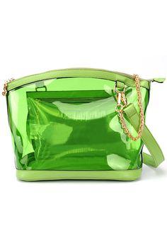 Transparent Green Bag  romwe.com #Romwe