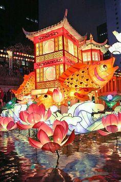 The Seoul Lantern Festival in South Korea. The Kia Korea Open in Seoul, South Korea, happens Sept. Places Around The World, Oh The Places You'll Go, Places To Travel, Around The Worlds, Festivals Around The World, South Korea Travel, Asia Travel, South Korea Seoul, Travel Box