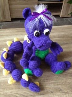Purple Dragon Free Crochet Pattern