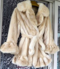 Vintage Ruffled Mink Fur Jacket