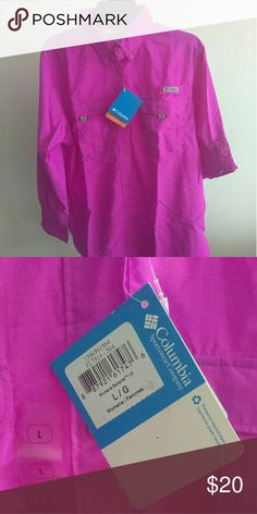NWT Colombia ladies shirt NWT Colombia ladies shirt. Size Large. Sleeves have loop to hold it in place when rolled up. Colombia  Tops Button Down Shirts