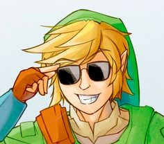 Link with glass shades
