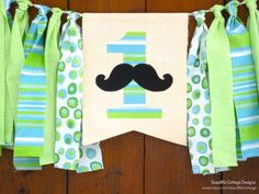 Little Man Birthday Banner Highchair High Chair Mustache Bash Blue Green Aqua Gentleman Cake Smash Back Drop Photo Prop Party One First by SeacliffeCottage on Etsy https://www.etsy.com/listing/225641805/little-man-birthday-banner-highchair