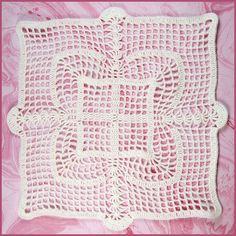 $1.99 - Filet Squared Doily - A Crochet pattern from jpfun.com