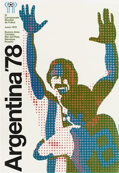 With World cup 2014 just around the corner a great modernist poster design for Argentina 78 World Cup.