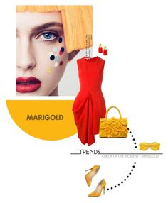 """Stay Golden: Dressing in Marigold"" by lacas ❤ liked on Polyvore featuring STELLA McCARTNEY, Lizzie Fortunato, Christian Louboutin and marigold"