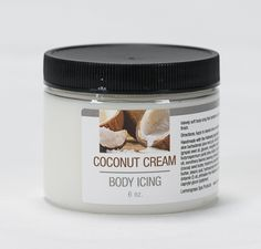 New! Coconut Cream Body Icing 6 oz  Subtle coconut essence with a hint of vanilla will remind you of tropical, sunny days at the beach. Velvety soft body icing that hydrates your skin and leaves a silky finish.