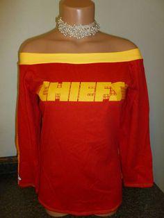 NFL Kansas City CHIEFS Womens Large shirt t shirt (id#56)