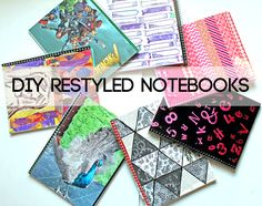 punk projects: Paper Scrap Triangle Notebook DIY