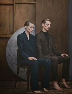 Publication: Numéro Homme Photography: Julia Hetta Models: Tom Gaskin and Maggie Maurer Stylist: Hannes Hetta