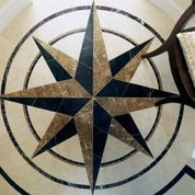 Three Dimensional Compass Rose for the A waterfront Condo -- It's a floor!