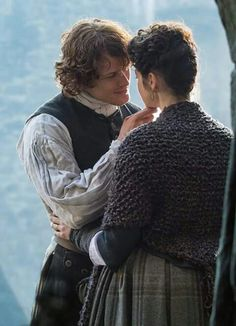 So much love...this is one of the reasons I love Outlander so much.  Jamie never leaves Claire in doubt about his feelings for her.  He doesn't tell her he loves her all the time but there is NO DOUBT whatsoever about how the feels about her.  He does love her...he shows her every chance he gets.  He desires her to be with him always and he doesn't leave her wondering.  Why, oh why...