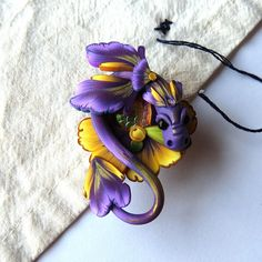 Pansy Dragon Needle Minder Springtime Fairy Rider Magnetic