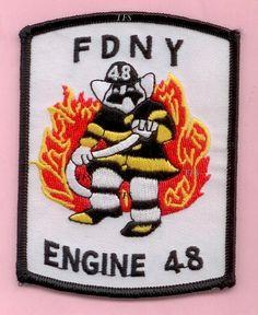 "NEW YORK CITY FIRE DEPT ENGINE 253 COMPANY PATCH ~ /""BENSONHURST/'s BRAVEST/"""