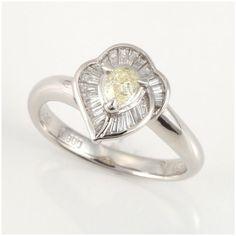 【買取】Pt900 イエローダイヤモンド リング/専門鑑定士があなたの商品を高額査定!全国どこでも自宅にいながら申込から買取まで完了します♪