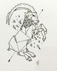 Geometric | Line | Mountain Goat • Personalize tattoo design • Follow / subscribe below : Instagram - @my_doodley Facebook - /mydoodley YouTube - my doodley