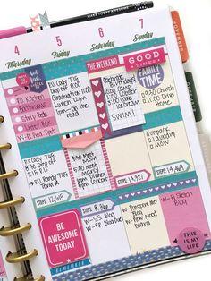 pink, purple, & turquoise week in the 'Botanical Garden' Happy Planner™️ of mambi Design Tea member Mary-Ann Maldonado | me & my BIG ideas