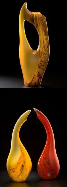 Contemporary art glass sculpture by Bernard Katz Glass #glassart #sculpture #interiordesign #artglass