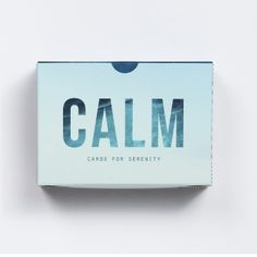 School Of Life Calm Prompt Cards: This small pack of prompt cards is made up of a succession of eloquent and beautiful reminders of just how we should approach our frustrations. It powerfully summons up our best and calmest selves – at precisely the moments when we need them most.